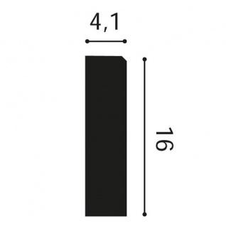 Türumrandung Stuck Orac Decor D330LR LUXXUS Sockel Zierelement Profil Wand Dekor Element robust und stoßfest   16cm hoch - Vorschau 2