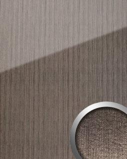 Wandpaneel Glas-Optik WallFace 20219 ALIGNED Silver AR+ Wandverkleidung glatt in Hochglanz-Optik spiegelnd selbstklebend abriebfest grau silber 2, 6 m2