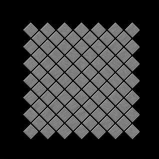 Mosaik Fliese massiv Metall Edelstahl gebürstet in grau 1, 6mm stark ALLOY Diamond-S-S-B 0, 91 m2 - Vorschau 3