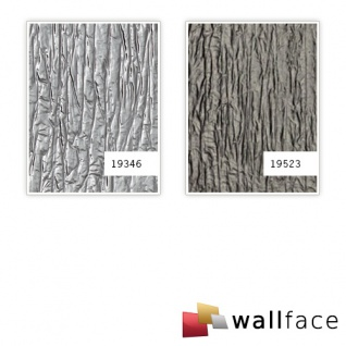 Wandverkleidung Used look WallFace 19346 CRASHED MIRROR Dekorpaneel geprägt in Metall Optik glänzend selbstklebend silber 2, 6 m2 - Vorschau 3