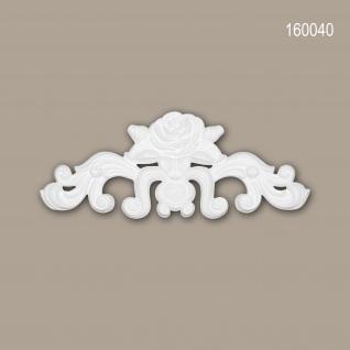 Zierelement PROFHOME 160040 Rokoko Barock Stil weiß