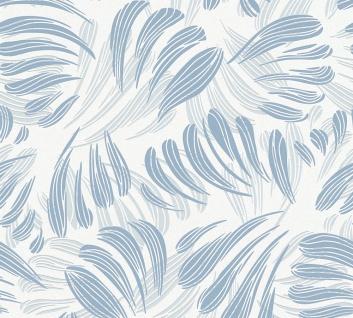 Grafik Tapete Profhome 367032-GU Vliestapete leicht strukturiert mit grafischem Muster matt blau weiß silber 5, 33 m2