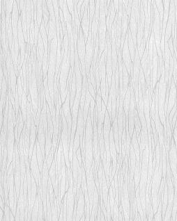 Streifen Tapete EDEM 122n-20 Vinyltapete geprägt Ton-in-Ton und Metallic Effekt weiß grau 5, 33 m2