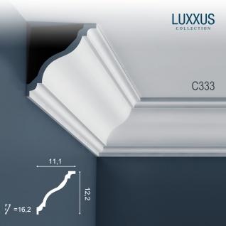 Eckleiste Dekor Profil Orac Decor C333 LUXXUS Decken Wand Stuck Gesims Dekorleiste | 2 Meter