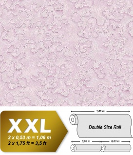 Grafik Tapete Vliestapete EDEM 677-96 XXL Design Tapete patent dekor hell-rosa hell-pink glitter 10, 65 qm