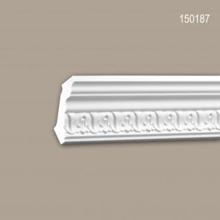 Eckleiste PROFHOME 150187 Zierleiste Stuckleiste Zeitloses Klassisches Design weiß 2 m