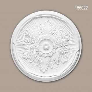 Rosette PROFHOME 156022 Zierelement Deckenelement Neo-Renaissance-Stil weiß Ø 52, 5 cm