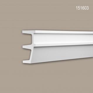 Wand- und Friesleiste PROFHOME 151603 Stuckleiste Zierleiste Friesleiste Modernes Design weiß 2 m