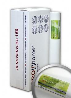Profhome Renoviervlies 150 g Malervlies Vlies glatte überstreichbare Vliestapete weiß | 112, 50 qm 1 Kart. 6 Rollen