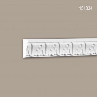 Wand- und Friesleiste PROFHOME 151334 Stuckleiste Zierleiste Wandleiste Neo-Klassizismus-Stil weiß 2 m