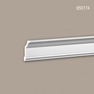 Eckleiste PROFHOME 650174 Stuckleiste Zierleiste stoßfest Neo-Klassizismus-Stil weiß 2 m