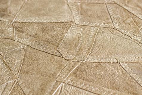 Präge Tapete Atlas STI-5102-2 Vliestapete geprägt in Lederoptik schimmernd beige perl-beige grau-beige seiden-grau 7, 035 m2 - Vorschau 2