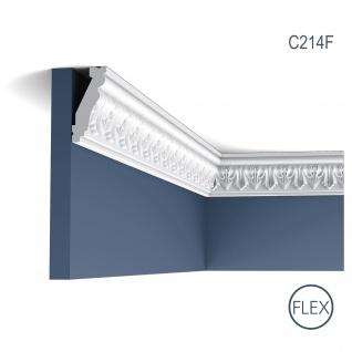 Zierleiste Orac Decor C214F LUXXUS flexible Eckleiste Stuckleiste Stuckprofil Decken Wand Leiste | 2 Meter