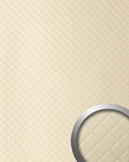 Wandpaneel Leder Design Karo Muster WallFace 13863 ROMBO Wandplatte Wandverkleidung selbstklebend creme 2, 60 qm