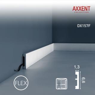 Kabelkanal Orac Decor DX157F AXXENT flexible Zierleiste Sockelleiste Wandprofil Kabel Boden Leiste | 2 Meter