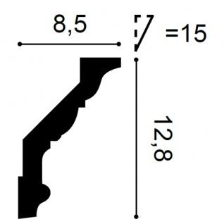 Eckleiste Orac Decor C302F LUXXUS flexible Leiste Zierleiste Deckenleiste Stuckgesims Wand Dekor Leiste | 2 Meter - Vorschau 2