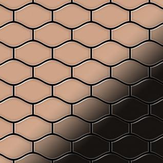 Mosaik Fliese massiv Metall Kupfer gewalzt in kupfer 1, 6mm stark ALLOY Karma-CM Designed by Karim Rashid 0, 86 m2