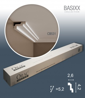 Orac Decor CB531 BASIXX 1 Karton SET mit 10 Stuckleisten Eckleisten | 20 m