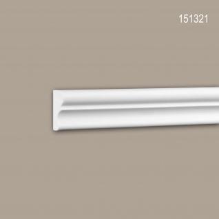 Wand- und Friesleiste PROFHOME 151321 Stuckleiste Zierleiste Wandleiste Neo-Klassizismus-Stil weiß 2 m