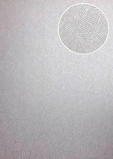 Grafik Tapete ATLAS XPL-594-3 Vliestapete strukturiert mit geometrischen Formen schimmernd silber weiß-aluminium weiß grau-weiß 5, 33 m2