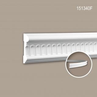 Wand- und Friesleiste PROFHOME 151340F Stuckleiste Flexible Leiste Zierleiste Zeitloses Klassisches Design weiß 2 m