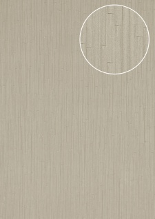 Präge Tapete Atlas INS-8705-4 Strukturtapete geprägt mit Streifen und Metallic Effekt silber weiß-aluminium 7, 035 m2