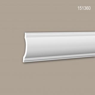 Wand- und Friesleiste PROFHOME 151360 Stuckleiste Zierleiste Friesleiste Neo-Klassizismus-Stil weiß 2 m