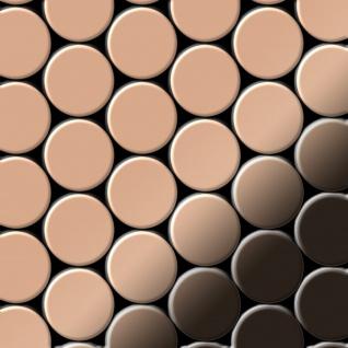 Mosaik Fliese massiv Metall Kupfer gewalzt in kupfer 1, 6mm stark ALLOY Dome-CM 0, 73 m2