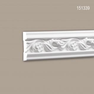 Wand- und Friesleiste PROFHOME 151339 Stuckleiste Zierleiste Wandleiste Rokoko Barock Stil weiß 2 m