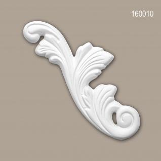Zierelement PROFHOME 160010 Rokoko Barock Stil weiß
