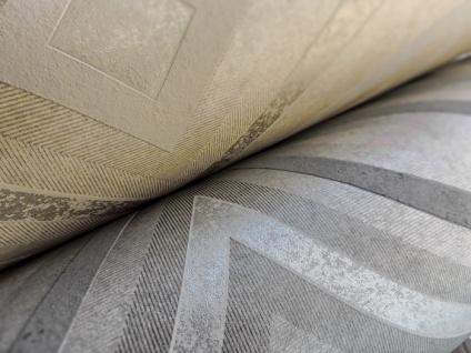 Grafik Tapete ATLAS HER-5135-4 Vliestapete geprägt im Kaleidoskop-Stil schimmernd creme perl-beige perl-weiß 7, 035 m2 - Vorschau 4