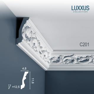 Stuck Zierleiste Orac Decor C201 LUXXUS Eckleiste leiste Profilleiste dekor Decken Wand Leiste | 2 Meter