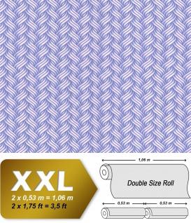 Grafik Tapete EDEM 81121BR15 Vliestapete glatt mit abstraktem Muster glitzernd flieder rosa pastell-violett 10, 65 m2