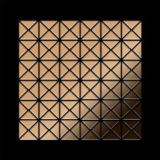 Mosaik Fliese massiv Metall Titan hochglänzend in kupfer 1, 6mm stark ALLOY Deco-Ti-AM 0, 92 m2 - Vorschau 3