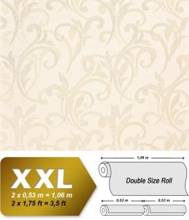 Blumen Tapete XXL Vliestapete EDEM 928-20 Abstraktes florales Muster Design Blumentapete creme beige 10, 65 m2