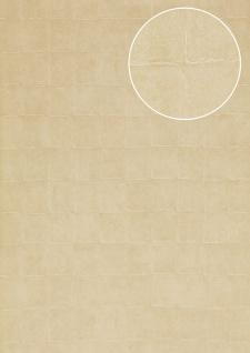 Stein-Kacheln Tapete Atlas INS-5080-5 Strukturtapete geprägt mit geometrischen Formen schimmernd creme beige creme-weiß 7, 035 m2