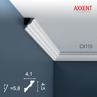Zierleiste Profilleiste Orac Decor CX110 AXXENT Stuck Profil Eckleiste Wand Leiste Decken Leiste | 2 Meter