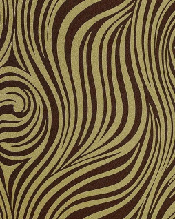 Grafik Tapete EDEM 1016-15 Zebra-Streifen Tapete Struktur-Muster hochwaschbare Oberfläche olivegrün braun