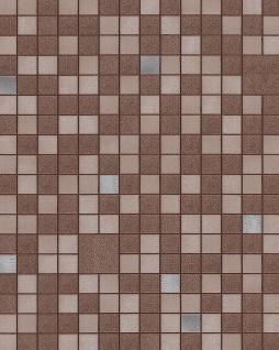 Küchen Bad Tapete EDEM 1033-17 Vinyltapete geprägt mit geometrischen Formen und metallischen Akzenten braun beige silber 5, 33 m2