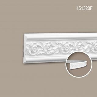 Wand- und Friesleiste PROFHOME 151320F Stuckleiste Flexible Leiste Zierleiste Rokoko Barock Stil weiß 2 m