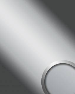 Wandpaneel Spiegel Design Glanz-Optik WallFace 11660 DECO SILVER Wandverkleidung Platte selbstklebend silber | 2, 60 qm