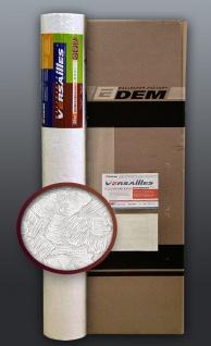 EDEM 80309BR60 XXL Vliestapete zum Überstreichen spachtelputz-dekor maler weiß 106 qm 4 Rollen