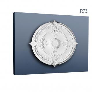 Zierrosette Stuck Orac Decor R73 LUXXUS Rosette Stuck Barock Dekor aus stoßfestem Polyurethan 70 cm Durchmesser
