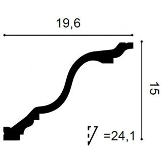 Dekor Profil Orac Decor C334F LUXXUS flexible Leiste Eckleiste Zierleiste Deckenleiste Stuckgesims Wand Dekor Leiste | 2 Meter - Vorschau 2