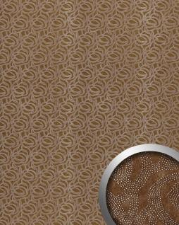 Wandverkleidung Leder Design WallFace 14302 ELEGANZA Wandpaneel selbstklebend braun silber 2, 60 qm