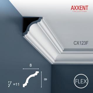 Eckleiste Orac Decor CX123F AXXENT flexible Stuckleiste Zierleiste Zeitloses Klassisches Design weiß 2m