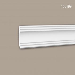 Eckleiste PROFHOME 150199 Zierleiste Stuckleiste Modernes Design weiß 2 m