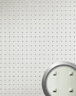 Wandpaneel 3D WallFace 11273 SQUARE Struktur Decorplatte Metalloptik Dekorpaneel selbstklebend edelstahl grau | 2, 60 qm