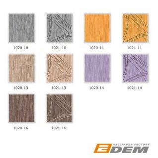 Grafik Tapete EDEM 1021-11 Designer Vinyl Tapete grafisches Linien-Muster Struktur metallic look gelb gold - Vorschau 4