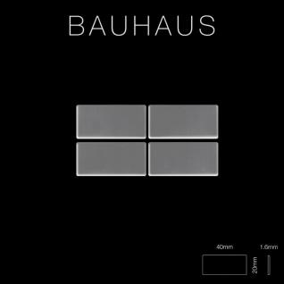 Mosaik Fliese massiv Metall Edelstahl hochglänzend in grau 1, 6mm stark ALLOY Bauhaus-S-S-M 1, 05 m2 - Vorschau 2